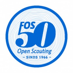 Badge 50 jaar FOS Open Scouting